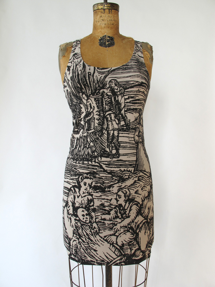 YEAAAA! Pretty Snake's Victorian Witch print cotton spandex bandage dress is BACK!!! Sexy spooky goodness! http://www.etsy.com/shop/PrettySnake