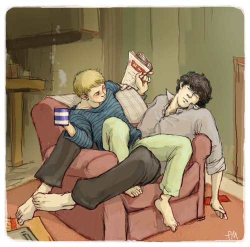 "doublenegativemeansyes:  j: ""i'm not giving up on my sofa…!"" s: ""…of course you are not."""