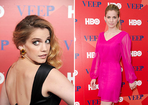 Look familiar?  Anna Chlumsky hits the red carpet for the premiere of her new HBO show 'Veep' also starring Julia Louis-Dreyfus.  Looking GOOD!