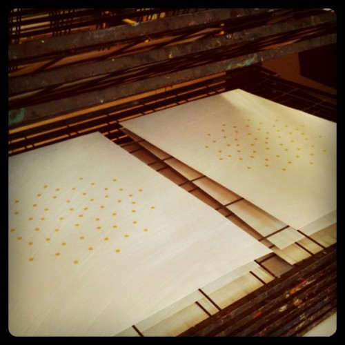 Screen printing Twelve (Taken with instagram)