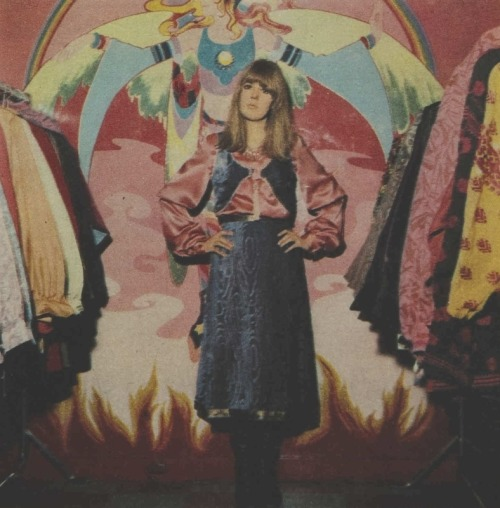 Jenny Boyd at the Apple boutique, 1968.