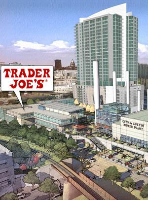gretchenalice:  austinstatesman:  Trader Joe's coming to downtown Austin next year California-based specialty grocer Trader Joe's is coming to Austin next year with a new store at the Seaholm development downtown, company officials said.  FINALLY.  I'll be gone, but cool nonetheless.
