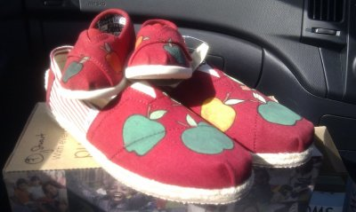 Matching customized toms for me and baby courtesy of my dear old husband <3 (Taken with picplz.)