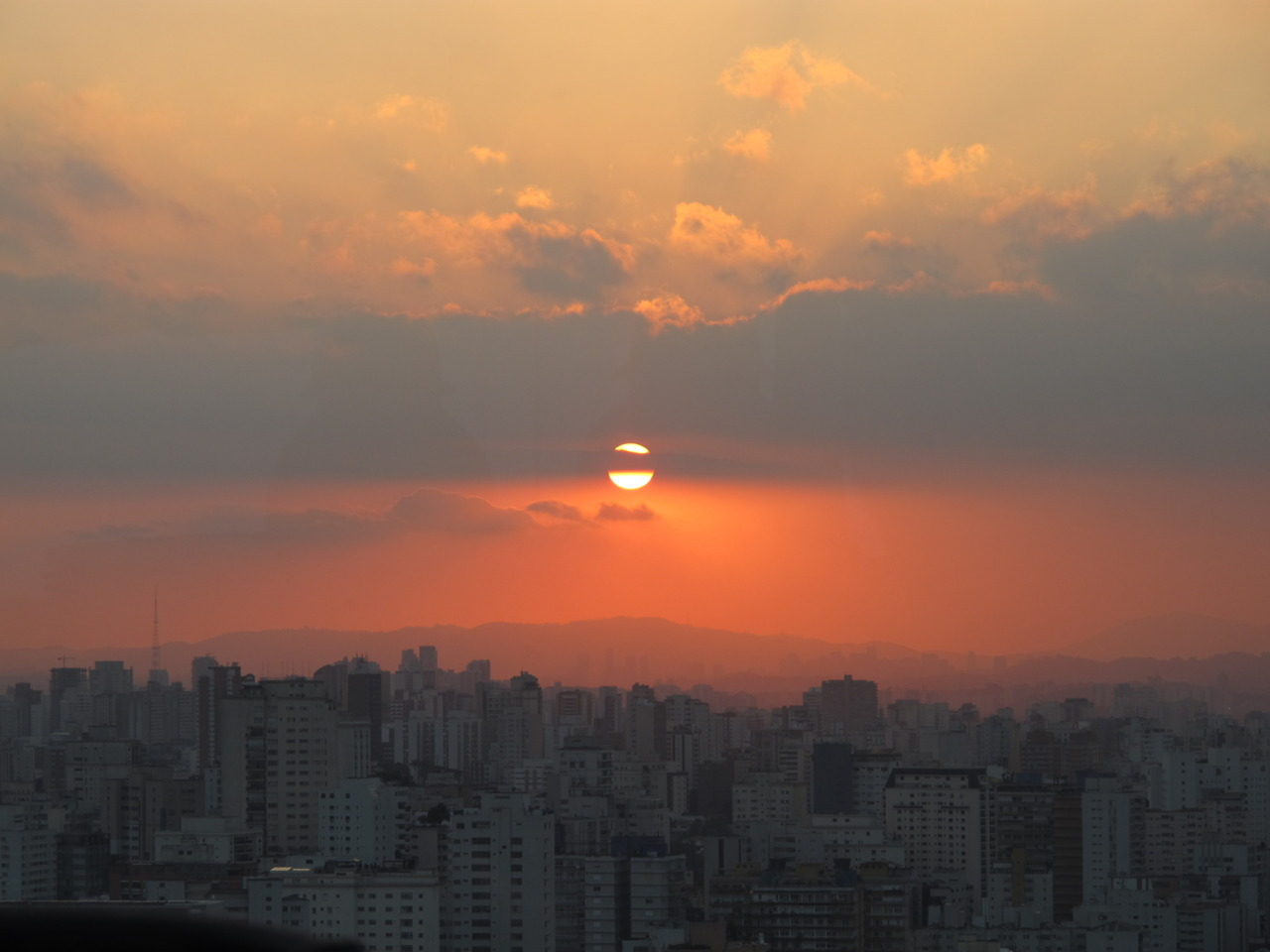 Sao Paulo by sunset. This place goes on forever on all sides, can't stop won't stop.