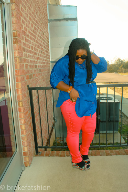 Pink & Blue vest,shirt,and belt thrifted. Shoes from urban outfitters and jeans from dots. These shoes have been my fav recently.