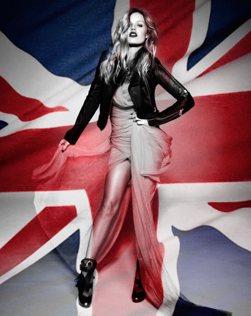 "Georgia May Jagger in ""London Calling"" Photographed by Jacques Dequeker & Styled by Juliana Maia for Elle Brazil, April 2012"