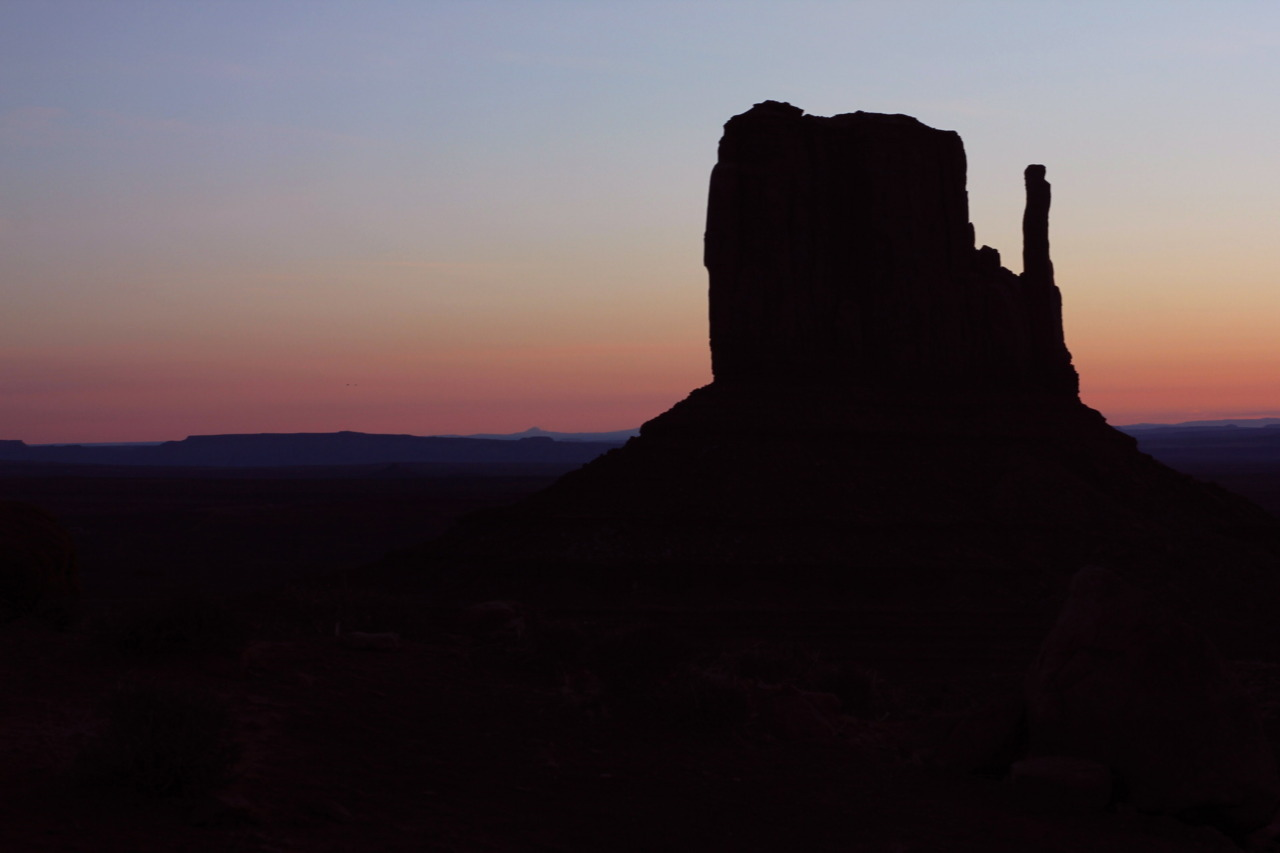 Beautiful sunrise over Monument Valley. What a cold morning that I'm glad I woke up to face. :) **for Marc… :)