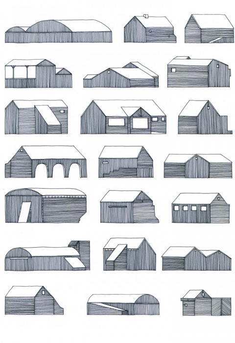 22 Buildings on the Road by Nigel Peake.