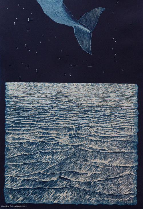 kelsfjord:  Constellations from the margins of language: Moby-Dick inspired cyanotypes by Andrew Seguin
