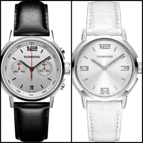 His & Hers #Tourneau #ww #wedding #weddingwednesday - TNY Series 40 Chrono Auto & TNY Series 35 #fashion #couple #watches #watch #bride #groom #engagement #pair #anniversary #love #picstitch #iphone #iphone4 #instagood #cute #blackandwhite #bw #black #white (Taken with instagram)