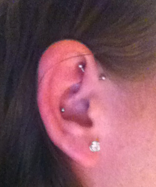got yet another spontaneous piercing for my 19th birthday yesterday :)