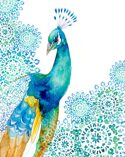 aplaceforart:  Peacock Art more art here