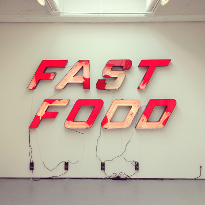 timmelideo:  Fast Food. At the Brian Ulrich show in Chelsea.