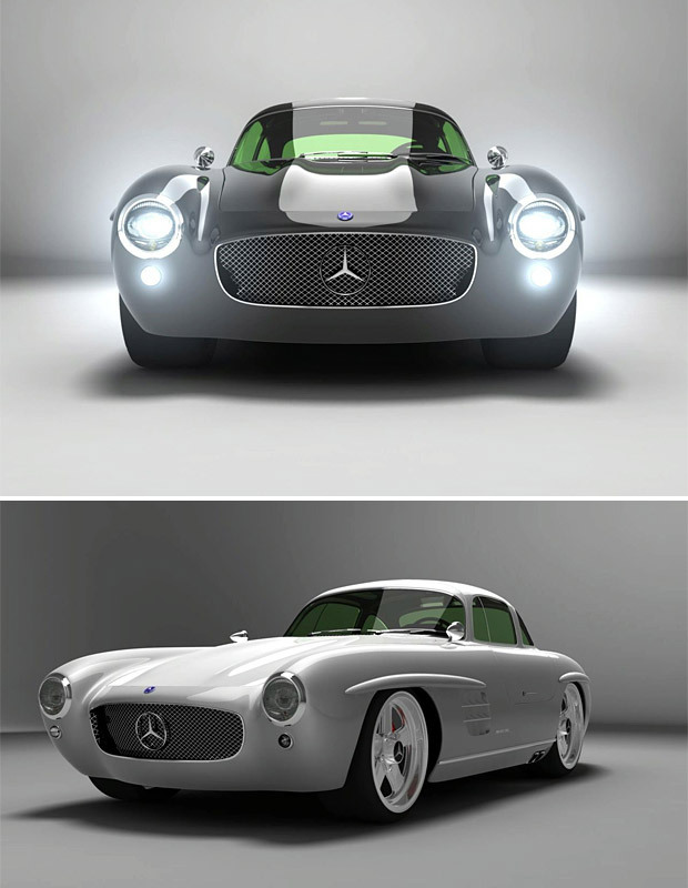 Now this is just ridiculously sick… Gullwing Panamericana 300 SL