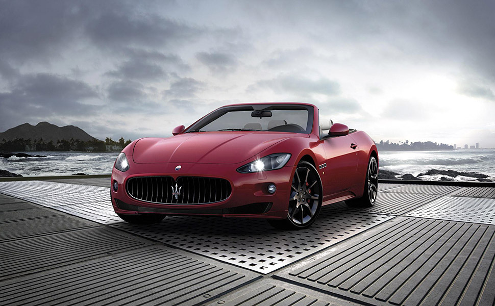 a Maserati the color of guts… GranCabrio Sport