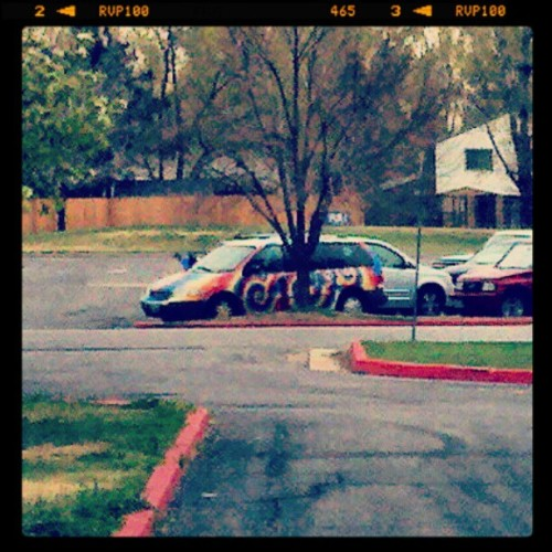 Tie-dye van. Nuff said. (Taken with instagram)