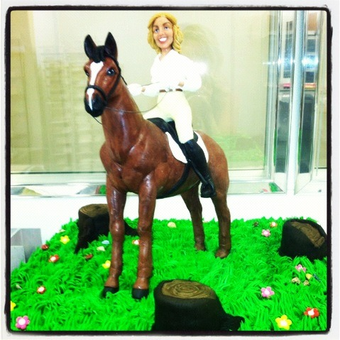 brooklynmutt:  Ann Romney's bday cake at @realDonaldTrump party. Chocolate horse and all. - @Sarah_Boxer