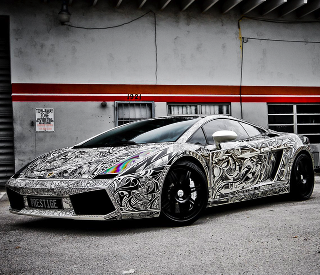 Only in Miami… this is sick though… The Sharpie Lamborghini Gallardo