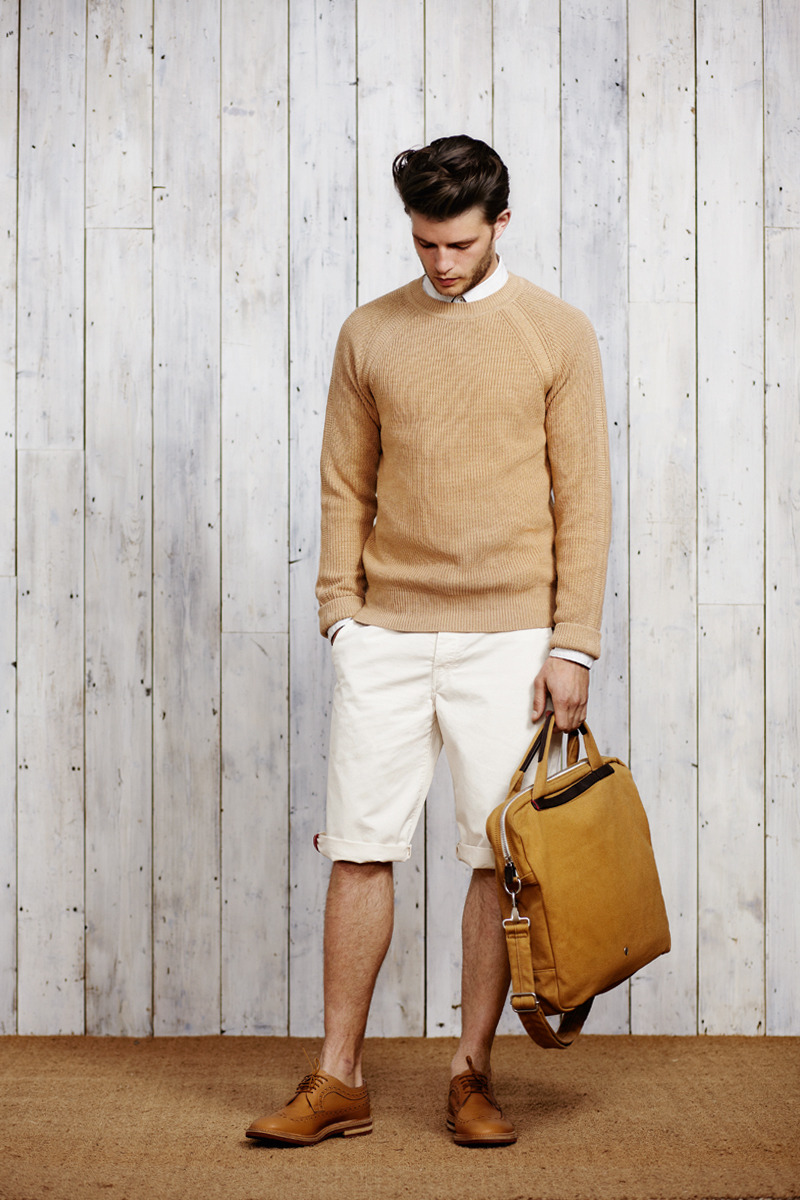 For those predictable times when the sun isn't shining much. Layer your shorts with some good knitwear, like this from Ben Sherman