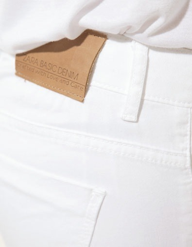 I love white denim but I'm sure I would make them dirty within a minute! Sitting on the ground, playing w my dog. Cannot pull off :(