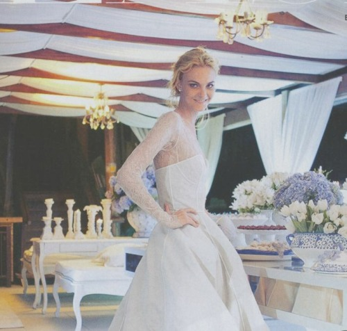 the-front-row:  Caroline Trentini on her wedding day in Vogue US may 2012
