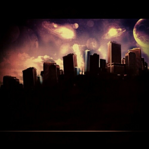 #Photoshop #city #planets (Taken with instagram)