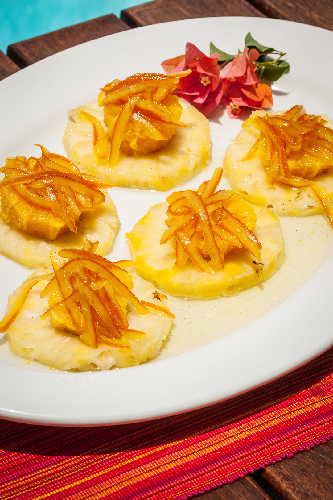 Pineapple Cardinale Parizzi (Pineapple and Orange Desserts) - Gourmet: April 1983