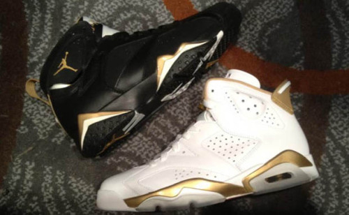 "AIR JORDAN 6/7 ""GOLD MEDAL"" PACK With the London Olympic Games right around the corner, sneaker releases have been recognizing an affinity for the sporting tournament. Jordan Brand takes a couple notes from the history of the sneaker company's founder with their ""Gold Medal"" pack which is set to release on August 18th of this year. MJ dominated his time in the Olympic games, and the Jordan VI and VII sneakers that release in this pack pay homage to this dominance through gold details across a otherwise white and black designs, respectively. The pack itself will be available for $350 come August."
