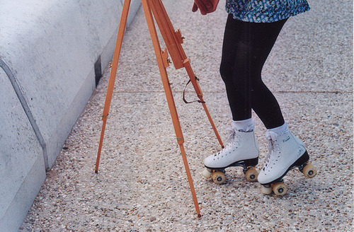 dolly-eyes:  skates (by millie clinton.)