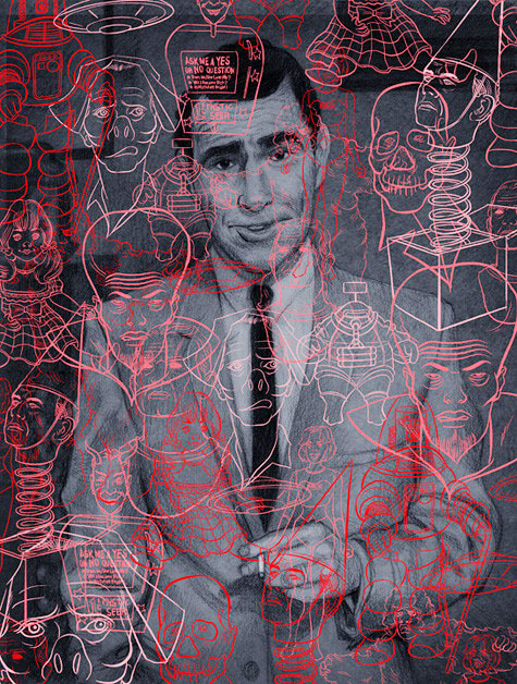"nevver: Rod Serling Untitled (Serling)"" Art Print by Koren Shadmi"