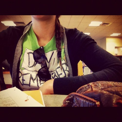Study, study, study. #adtr #braid #sunglasses #studytime #library #biology  (Taken with instagram)