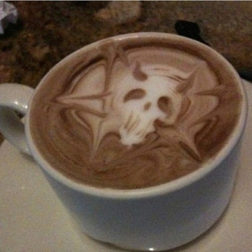 jeffreestar:  good morning… Satan is in my coffee.  SHARON!?