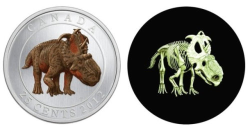 topherchris:  moneyisnotimportant:  Canada's Money Has a Glow-In-The-Dark Dinosaur On It This is not a joke. First they decide to get rid of the penny that's really only good for one thing, and now they issue a coin that not only has a dinosaur on it, but also GLOWS IN THE DARK! As a matter of fact, I'm pretty sure it's an elaborate scheme to get Topherchris to move to Canada.  BRB MOVING TO CANADA