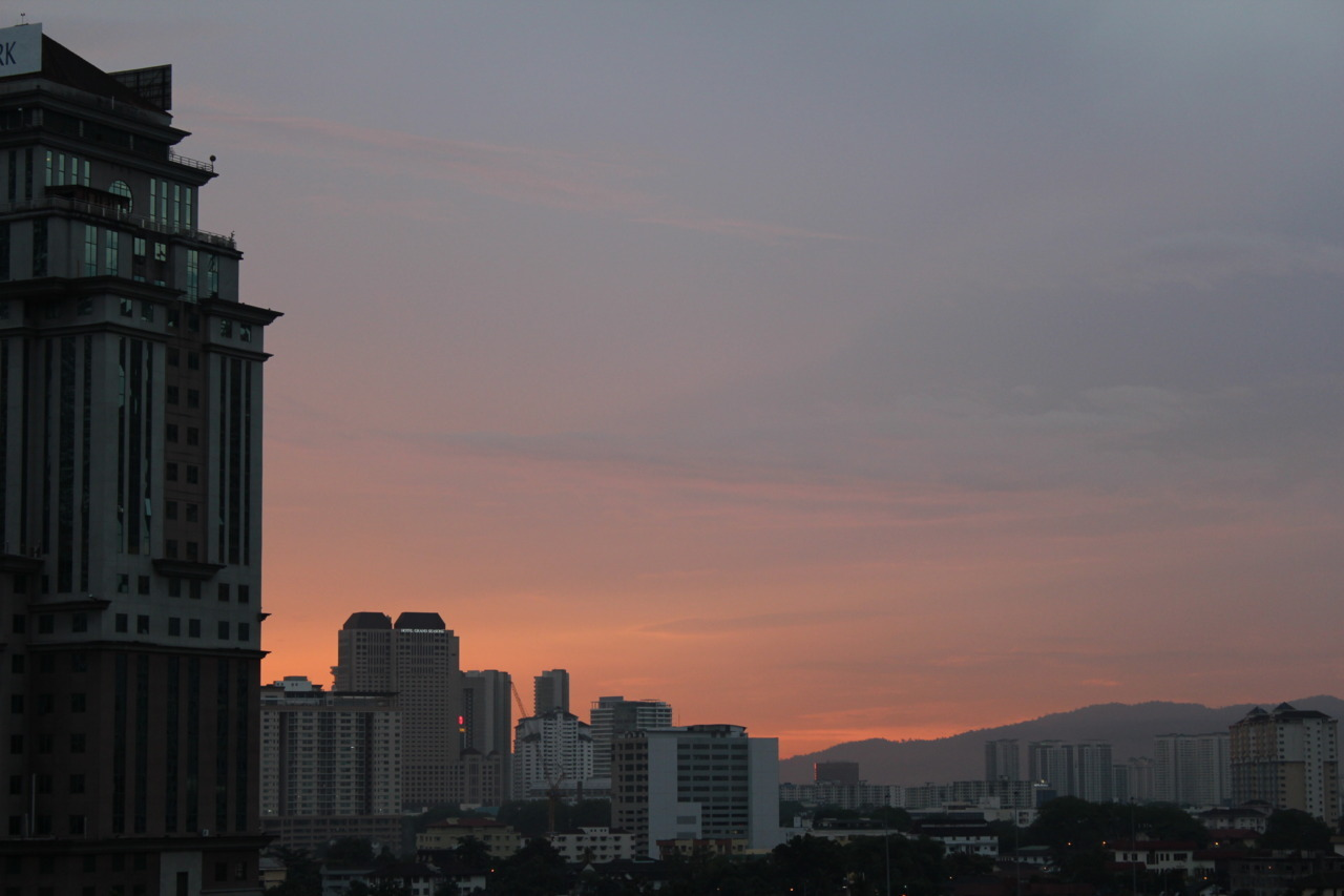 Metropolitan sunset in KL.