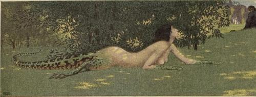 venusmilk:  Jugend, 1908 The Lizard by Eduard Okun