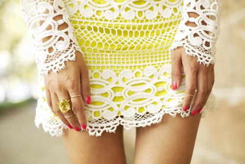 modcloth:  Love this pairing of neon and lace from Gary Pepper Vintage.