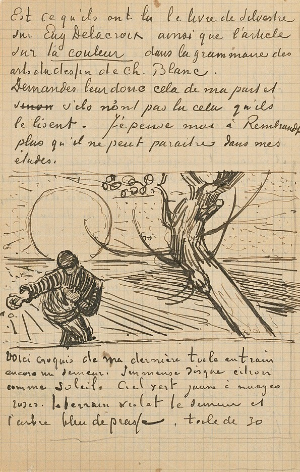 The sower by Van Gogh from a letter to his brother (from the iPhone app Van Gogh HD)