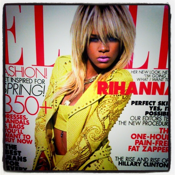 #Rihanna Elle Cover - May 2012 #fashion #Elle #haute #blonde #cover #style #instagood  (Taken with instagram)