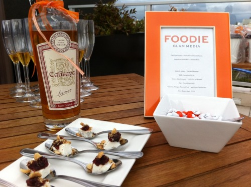 Had an amazing tasting experience on the rooftop of the Hotel Wilshire in LA to celebrate Foodie! Chef Eric Greenspan put together a sweet treat tastings (chocolate, cheese, honey) with after dinner Italian liqueurs…brilliant. And delicious.