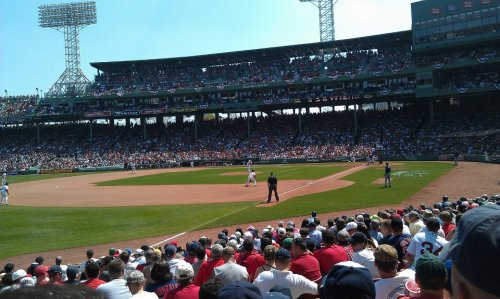 Went to the Red Sox game on Monday. Over paid for endless Blue Moons just to stand the heat. (and loss, and marathon)