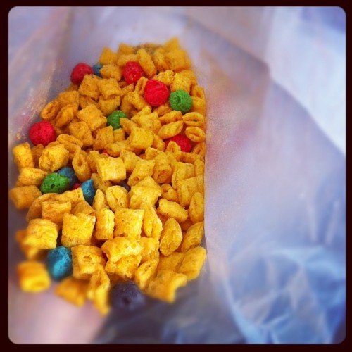 eating dry cap'n crunch is probably the most dangerous things for the roof of your mouth. (Taken with instagram)