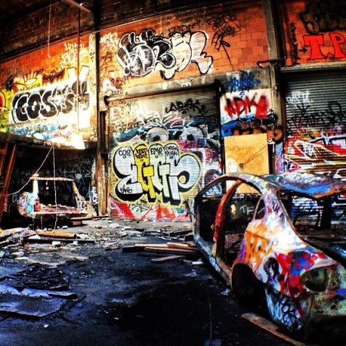 Sketchy location of the day (Taken with instagram)