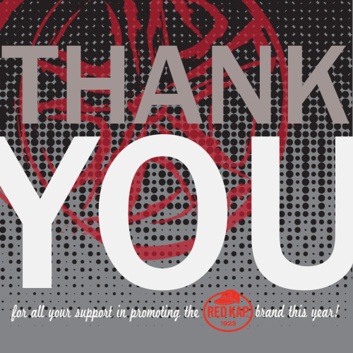 "Red Kap: Automotive ""Thank you"" card for VF Imagewear's Annual Sales Meeting, 2011"