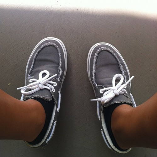 Got my Vans on but they look like Sperrys 🎶👟👟 #shoes #vans #wdywt  (Taken with instagram)