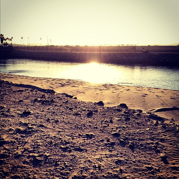 Looking Back (Taken with Instagram at Newport Beach Jetty)