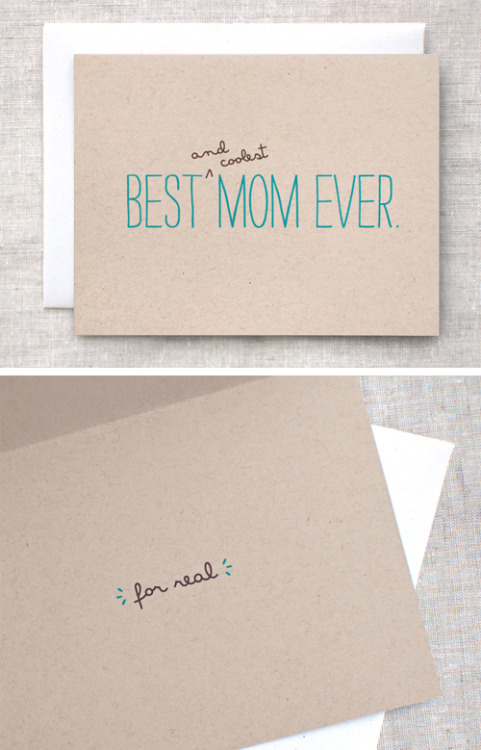 designersof:  Eco-Friendly Mother's Day Card, made from 100% post consumer fiber, available here. (Mother's Day is just around the corner, May 13th!) :) My shop. My Tumblr.