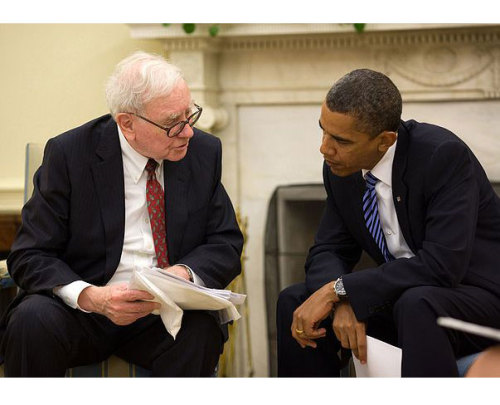Buffett Has Rule for Environment, Too Warren Buffett's suggestion that CEOs pay at least an equal tax rate to their secretaries may have been struck down by the Senate, but Buffett also offers guidance on environmental policies in business. keep reading