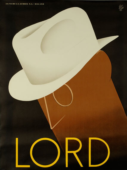 coololdthings:  Poster for Lord hats by Paolo Garretto, 1930