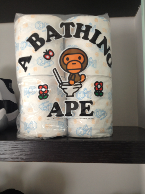 kissedkilled:  A Bathing Ape Poopoo wipes!