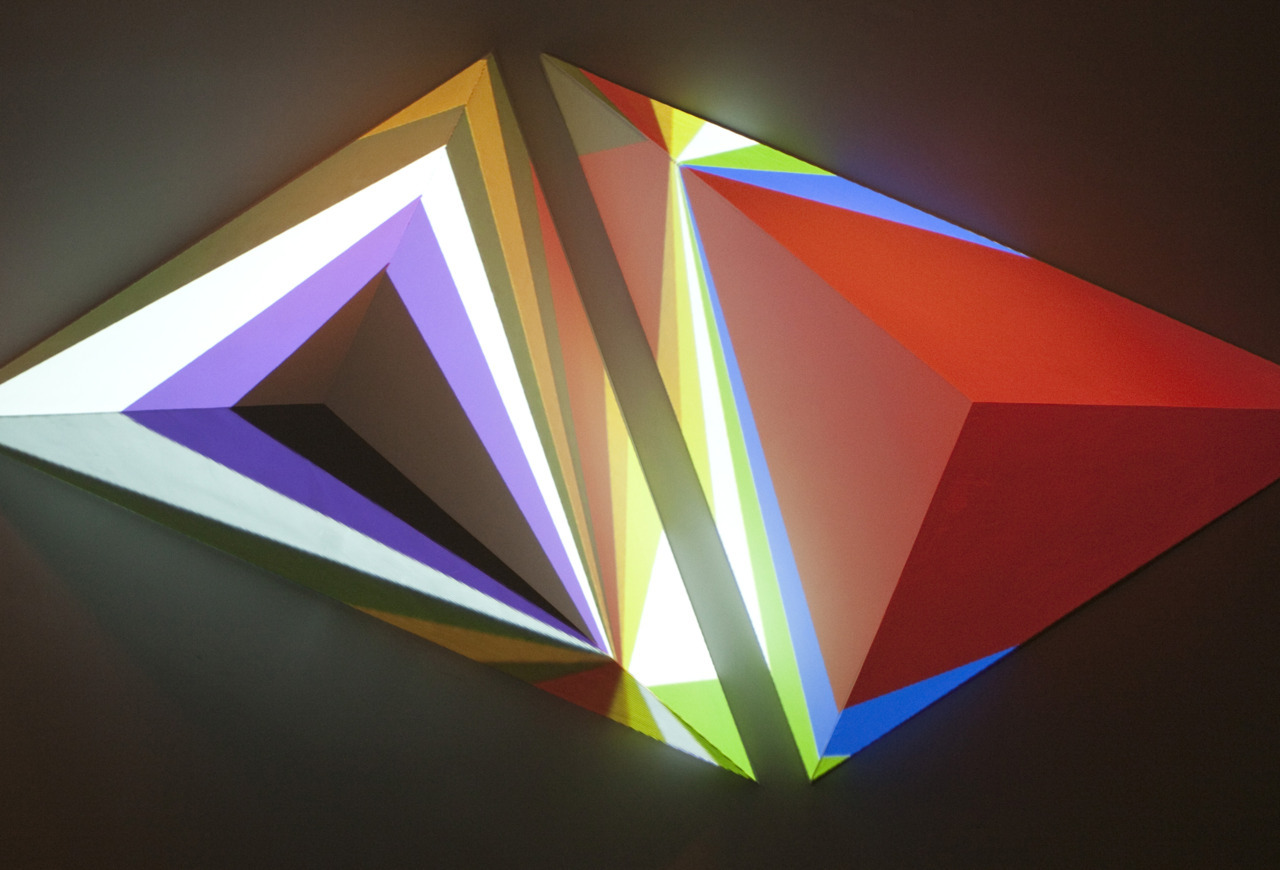 Dev Harlan, Any Colour You Like Foam, plaster, video projection 2010
